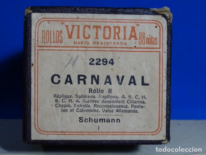 Instrumentos musicales: ROLLO DE PIANOLA. CARNAVAL SCHUMANN. - Foto 2 - 257353365