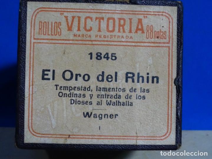 Instrumentos musicales: ROLLO DE PIANOLA. EL ORO DEL RHIN. WAGNER. - Foto 2 - 257353415