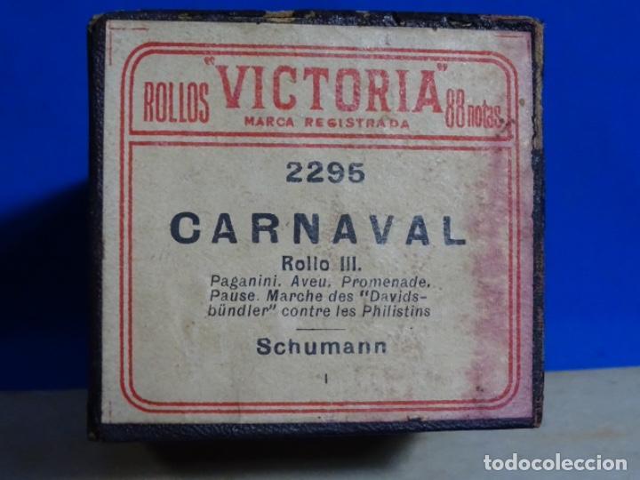 Instrumentos musicales: ROLLO DE PIANOLA. CARNAVAL. SCHUMAN. - Foto 2 - 257353485