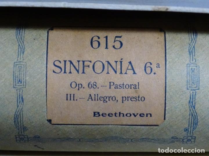 Instrumentos musicales: ROLLO DE PIANOLA. SINFONÍA 6. BEETHOVEN. - Foto 2 - 257353660