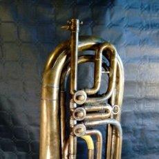 Instrumentos Musicais: TROMPETA CARL AUGUST SCHUSTER.MARKNEUKIRCHEN. MANUFACTURA DE 1830 – 1864. ALEMANIA.. Lote 257595770