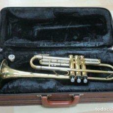 Instrumentos musicales: MAGNIFICA TROMPETA, APROX. 54 CM + MALETA MUSICA STEYR-AUSTRIA. Lote 257702595