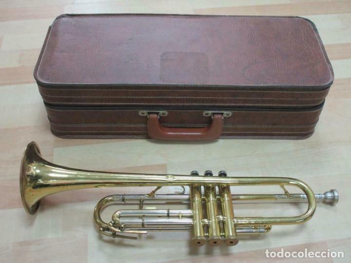Instrumentos musicales: MAGNIFICA trompeta, aprox. 54 cm + maleta Musica Steyr-Austria - Foto 10 - 257702595