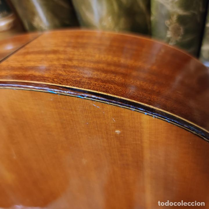 Instrumentos musicales: Guitarra española clásica. Garrido. Madrid. Revisada y recién encordada. Bonito sonido flamenco. - Foto 20 - 257957910