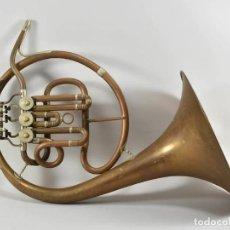 Instrumentos musicales: ANTIGUA TROMPA TROMPETA CUERNO CUERNO PAUL WITTLIN BASSE 46,5 CM 2 KG.. Lote 260095450