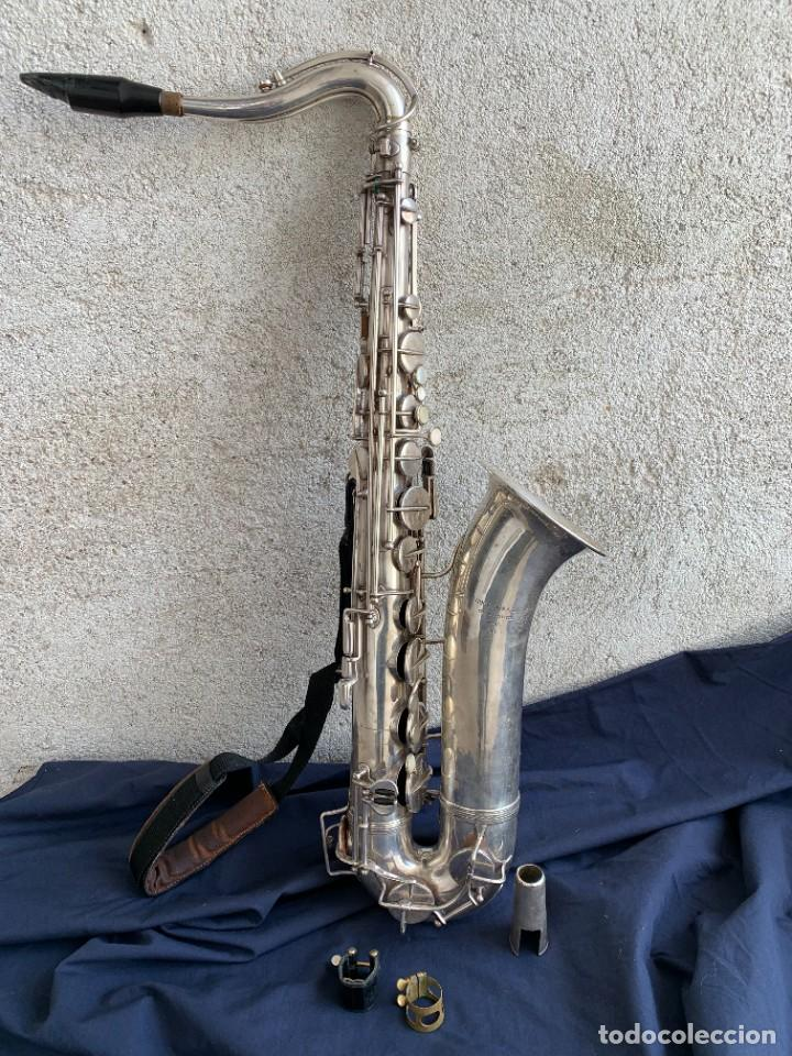 ANTIGUO SAXOFON SAXO QUIZAS ALTO COUESNON ET CIE PARIS FRANCE EN SU ESTUCHE83X18X33CMS (Música - Instrumentos Musicales - Viento Metal)