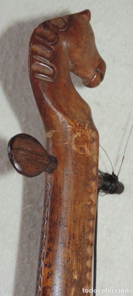 Instrumentos musicales: ANTIGUO TRABAJO PASTORIL, RABEL CON CUERPO Y MASTIL DE UNA SOLA PIEZA DE MADERA, ARTISTICAMENTE TALL - Foto 6 - 261331595
