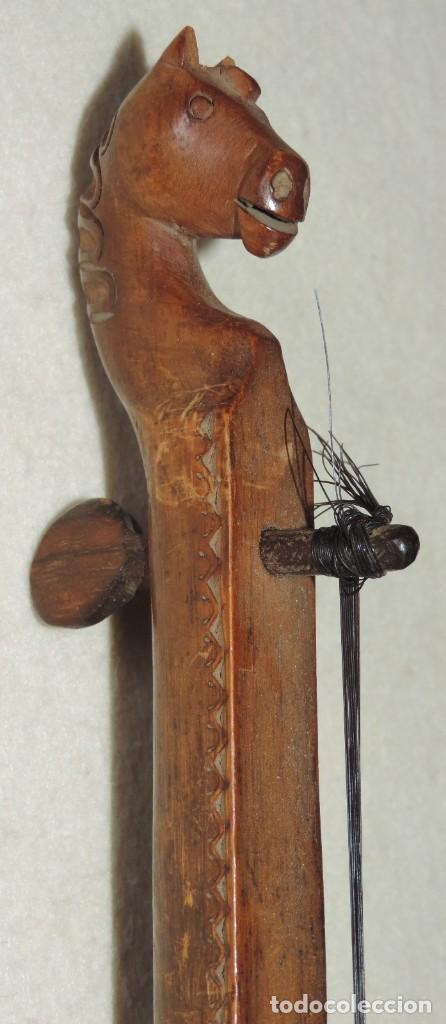 Instrumentos musicales: ANTIGUO TRABAJO PASTORIL, RABEL CON CUERPO Y MASTIL DE UNA SOLA PIEZA DE MADERA, ARTISTICAMENTE TALL - Foto 9 - 261331595
