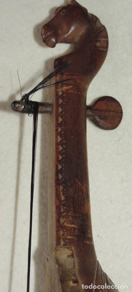 Instrumentos musicales: ANTIGUO TRABAJO PASTORIL, RABEL CON CUERPO Y MASTIL DE UNA SOLA PIEZA DE MADERA, ARTISTICAMENTE TALL - Foto 13 - 261331595