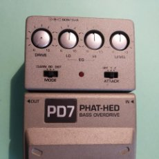 Instrumentos musicales: IBANEZ PHAT-HED PD7 PEDAL PARA BAJO. Lote 261603005