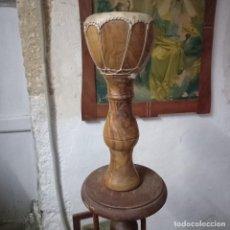 Instrumentos musicales: ANTIGUO TIMBAL TAMBOR AFRICANO DE MADERA Y PERGAMINO. Lote 262037450