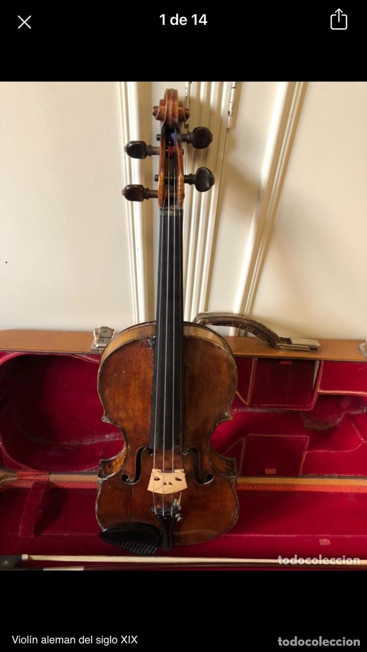 Instrumentos musicales: Violín alemán siglo XIX - Foto 2 - 262042300