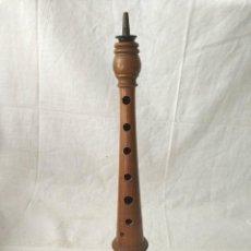 Instrumentos musicales: ANTIGUA DULZAINA - DOLZÇAINA VALENCIANA DE MADERA MIDE 33 CM. Lote 262374640