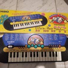 Instrumentos musicales: RAREZA ! ANTIGUO TECLADO MUSICAL PIANO CASIO DRUM PADS TONE BANK SA-6 FUNCIONANDO AÑOS 80 90. Lote 262633695