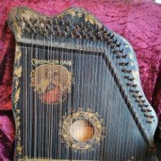 Instrumentos musicales: ESPECTACULAR CÍTARA O ARPA. CONMEMORATIVA DE LA CORONACIÓN DE EDUARDO VII DE INGLATERRA.1902.ÚNICA. Lote 262637505