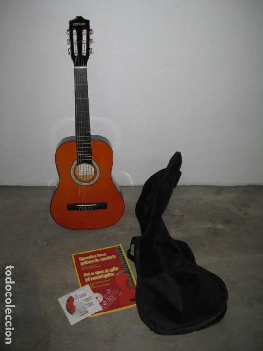GUITARRA CLASICA CLIFTON CON CURSO DE GUITARRA Y FUNDA. (Música - Instrumentos Musicales - Guitarras Antiguas)