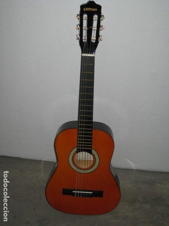 Instrumentos musicales: Guitarra clasica Clifton con curso de guitarra y funda. - Foto 5 - 263574670