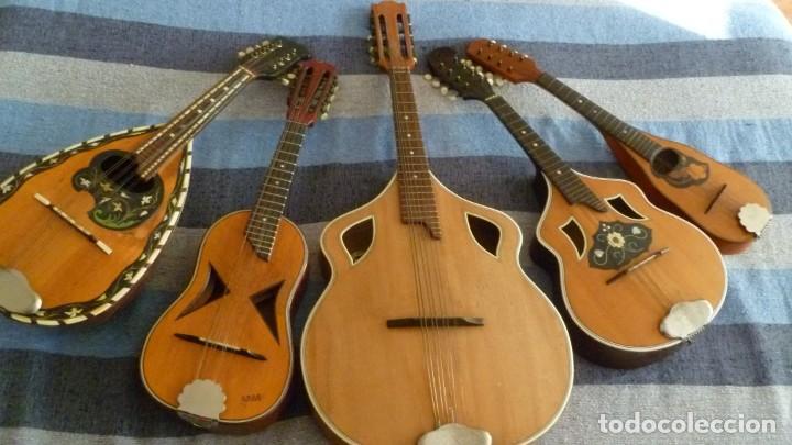 LOTE DE 5 MANDOLINAS (Música - Instrumentos Musicales - Cuerda Antiguos)