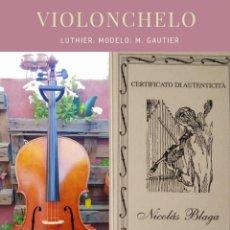 Instrumentos musicales: VIOLONCHELO LUTHIER. MODELO: M. GAUTIER. Lote 269148648