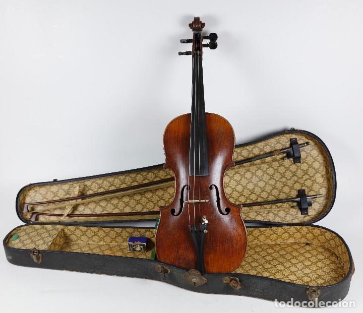 ANTIGUO VIOLÍN EN ESTUCHE - EN BUEN ESTADO APARENTE. (Música - Instrumentos Musicales - Cuerda Antiguos)
