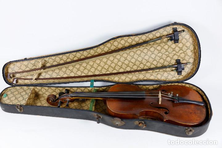 Instrumentos musicales: ANTIGUO VIOLÍN EN ESTUCHE - EN BUEN ESTADO APARENTE. - Foto 2 - 269163248