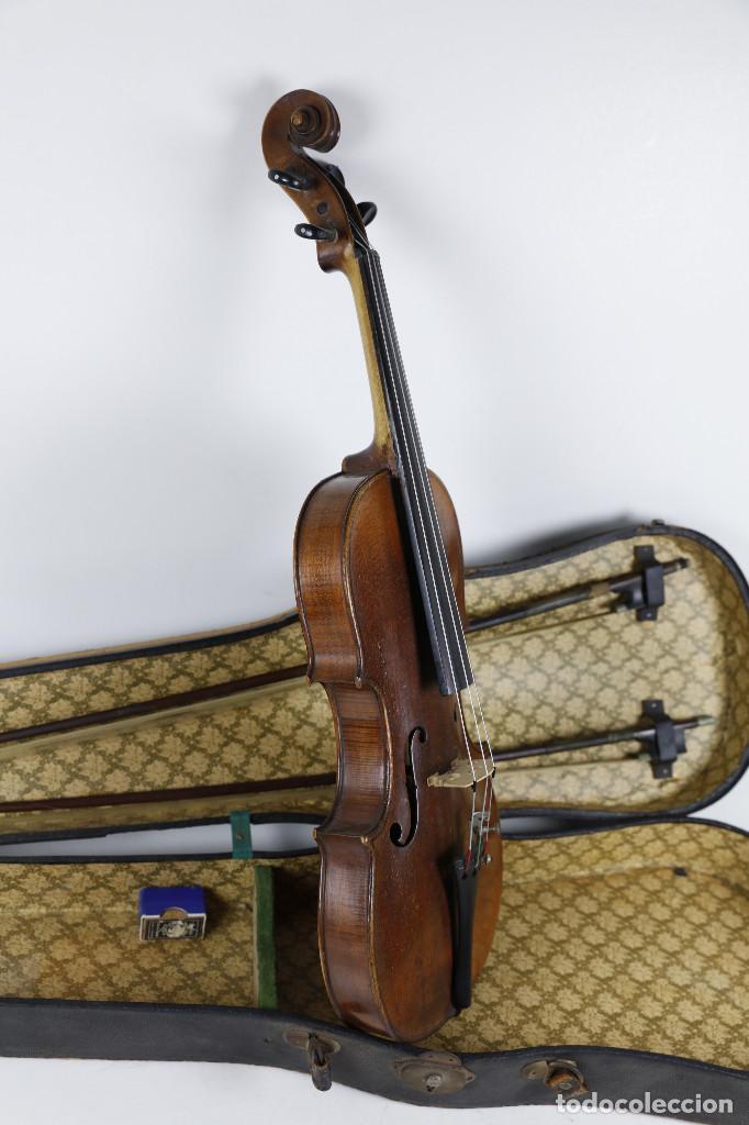 Instrumentos musicales: ANTIGUO VIOLÍN EN ESTUCHE - EN BUEN ESTADO APARENTE. - Foto 3 - 269163248