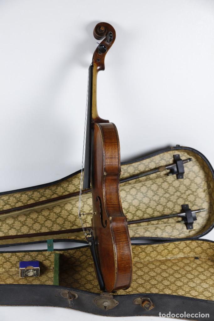 Instrumentos musicales: ANTIGUO VIOLÍN EN ESTUCHE - EN BUEN ESTADO APARENTE. - Foto 4 - 269163248