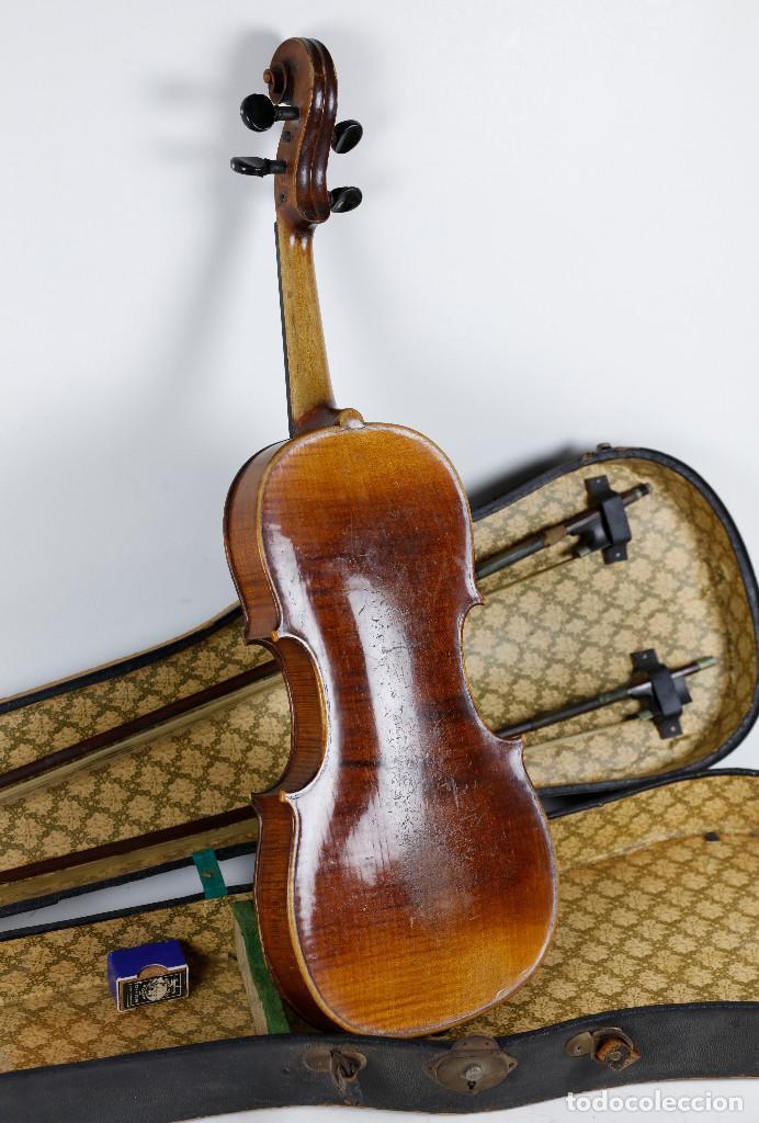 Instrumentos musicales: ANTIGUO VIOLÍN EN ESTUCHE - EN BUEN ESTADO APARENTE. - Foto 5 - 269163248