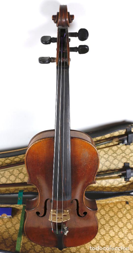 Instrumentos musicales: ANTIGUO VIOLÍN EN ESTUCHE - EN BUEN ESTADO APARENTE. - Foto 7 - 269163248