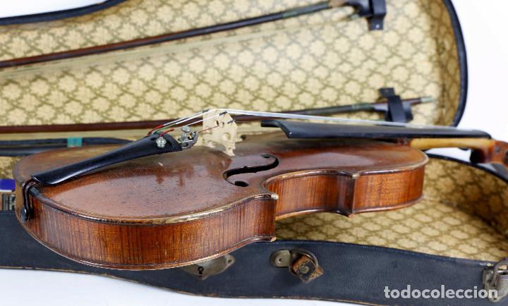 Instrumentos musicales: ANTIGUO VIOLÍN EN ESTUCHE - EN BUEN ESTADO APARENTE. - Foto 8 - 269163248