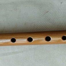 Instrumentos musicales: FLAUTA DE MADERA HECHA MANO DE LIMA PERÚ FIRMADA.. Lote 269785453