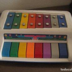Instrumentos musicales: XILOFONO DE NIÑOS COMPLETO CON PARTITURAS Y PALOS. Lote 270527703
