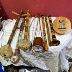 Instrumentos musicales: LOTE DE 8 INSTRUMÉNTOS MÚSICALES MADERA ANTIGUOS . VER TODAS LAS FOTOS. Lote 271423003