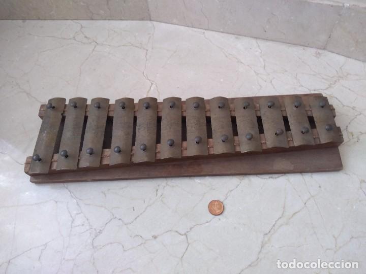 ANTIGUO INSTRUMENTO XILOFONO AUTENTICO (Música - Instrumentos Musicales - Percusión)