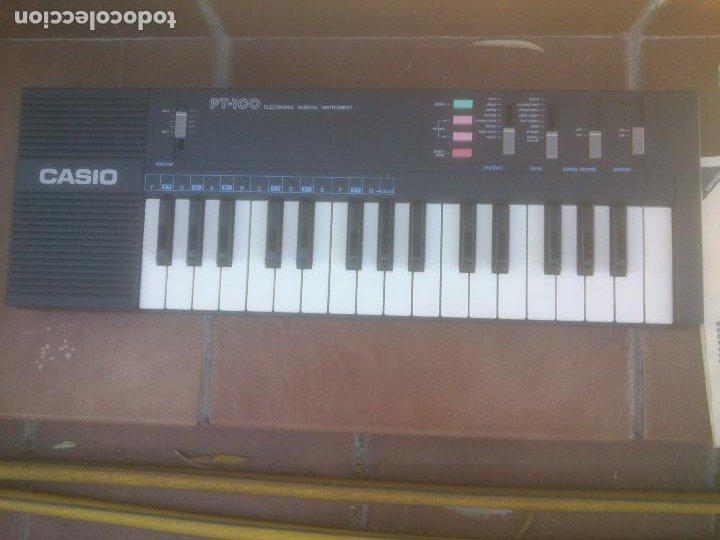 Instrumentos musicales: Piano retro Casio pt-100 excelente estado órgano en caja - Foto 2 - 272550253