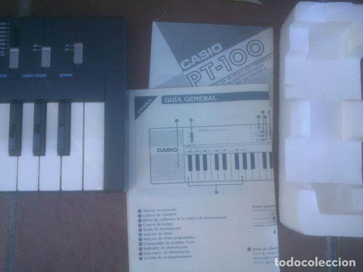 Instrumentos musicales: Piano retro Casio pt-100 excelente estado órgano en caja - Foto 4 - 272550253