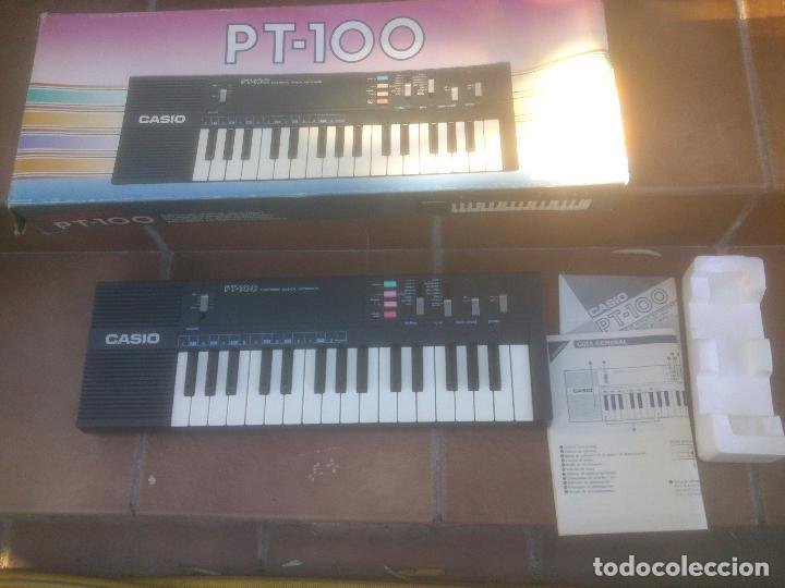 PIANO RETRO CASIO PT-100 EXCELENTE ESTADO ÓRGANO EN CAJA (Música - Instrumentos Musicales - Teclados Eléctricos y Digitales)