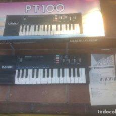 Instrumentos musicales: PIANO RETRO CASIO PT-100 EXCELENTE ESTADO ÓRGANO EN CAJA. Lote 272550253