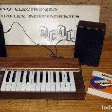 Instrumentos musicales: SCALA - ORGANO ELECTRONICO CON BAFLEX INDEPENDIENTES - NUEVO Y EN SU CAJA - FUNCIONANDO - AÑOS 70. Lote 272708493