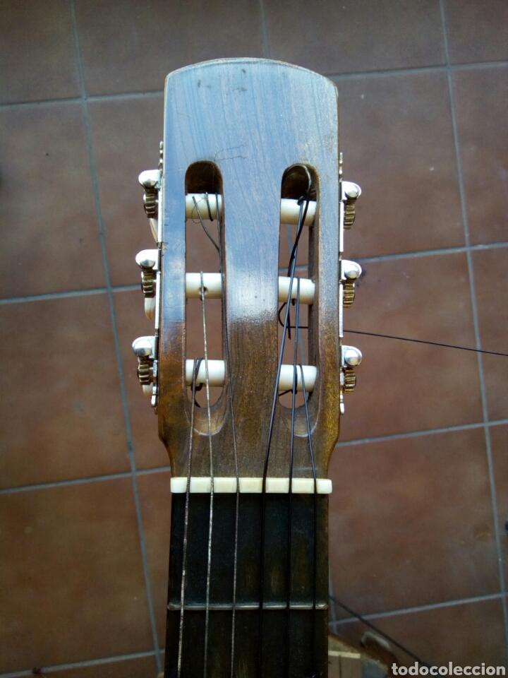 MAGNÍFICA GUITARRA ESPAÑOLA MACIZA. (Música - Instrumentos Musicales - Cuerda Antiguos)
