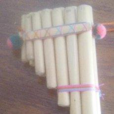Instrumentos musicales: FLAUTA PERUANA , Ó ZAMPOÑA ARTESANIA PERUANA EN MADERA. Lote 273723738