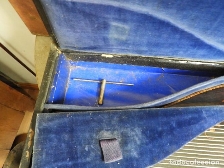 Instrumentos musicales: ANTIGUA CITARA CON MARQUETERIA DE KERSCHENSTEINER - Foto 14 - 273975998