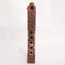 Instrumentos musicales: ANTIGUO INSTRUMENTO ANDINO - TARKA DE MADERA TALLADA A MANO. Lote 274008398