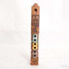 Instrumentos musicales: ANTIGUO INSTRUMENTO ANDINO - TARKA DE MADERA TALLADA A MANO. Lote 274008408