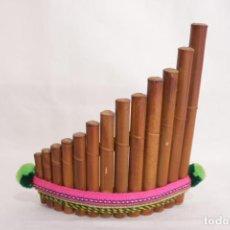 Instrumentos musicales: FLAUTA DE PAN PERUANO HECHO DE MADERA DE BAMBÚ. Lote 274009738