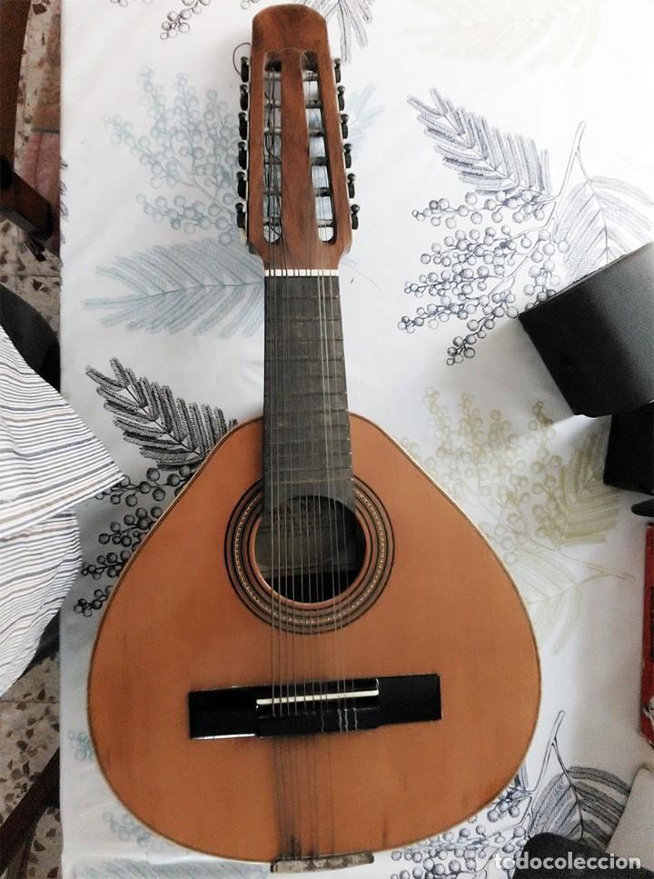 BANDURRIA / LAUD DE 12 CUERDAS MERVI RAFAEL MOLINA VALENCIA MIDE 62/30/9 CM CON ALGUN LIGERO DEFECTO (Música - Instrumentos Musicales - Cuerda Antiguos)