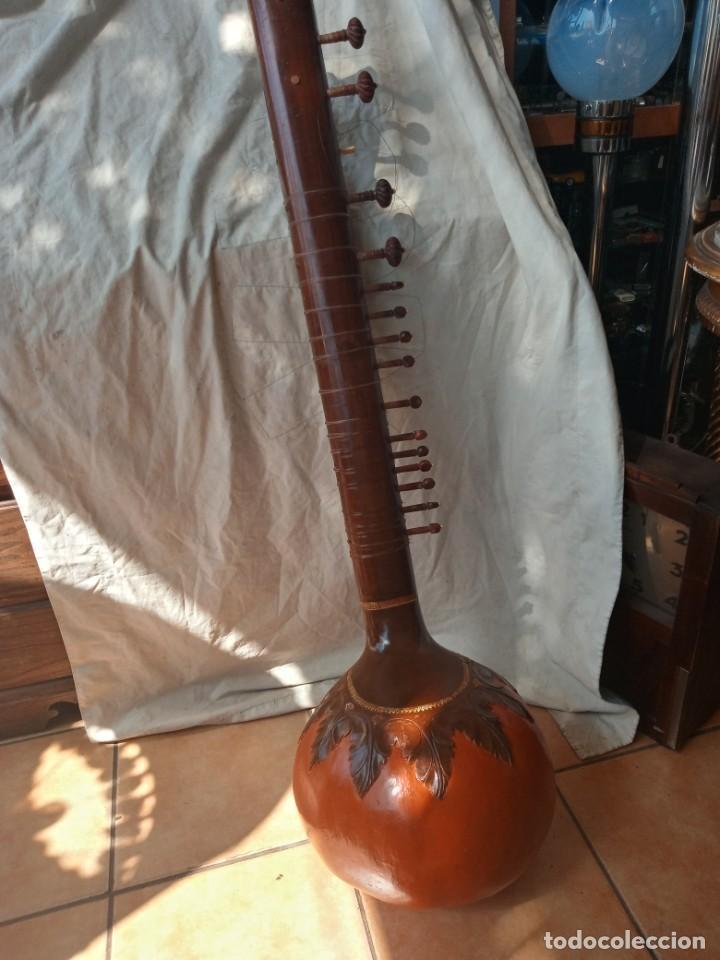 Instrumentos musicales: Sitar instrumento tradicional indio - Foto 4 - 274679103