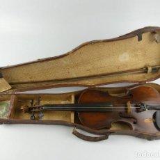 Instruments Musicaux: ANTIGUO INSTRUMENTO MUSICAL VIOLÍN CON ARCO Y ESTUCHE ORIGINAL. Lote 275166998