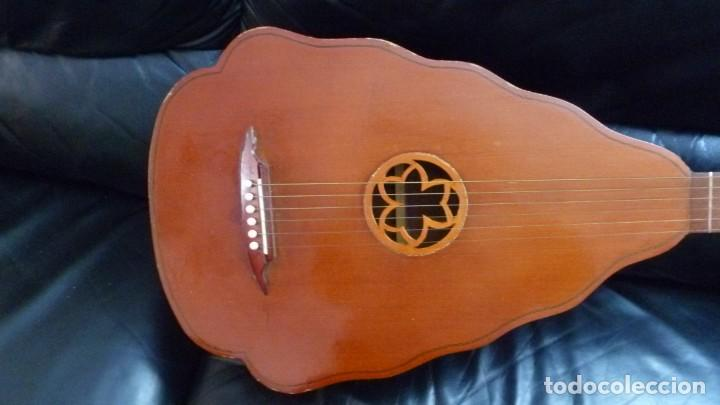 Instrumentos musicales: Raro laúd guitarra alemán - Foto 2 - 275285763