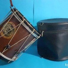 Instrumentos musicales: TAMBORIL VASCO DE TXISTULARI CON PEGATINAS POLÍTICAS.. Lote 275336853